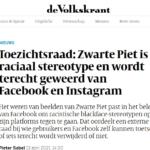 Zwarte piet voor altijd verbannen op FB